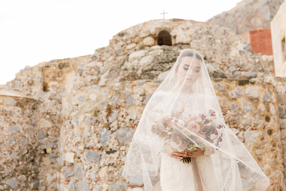 Bridal Portrait Editorial Photoshoot in Greece 12