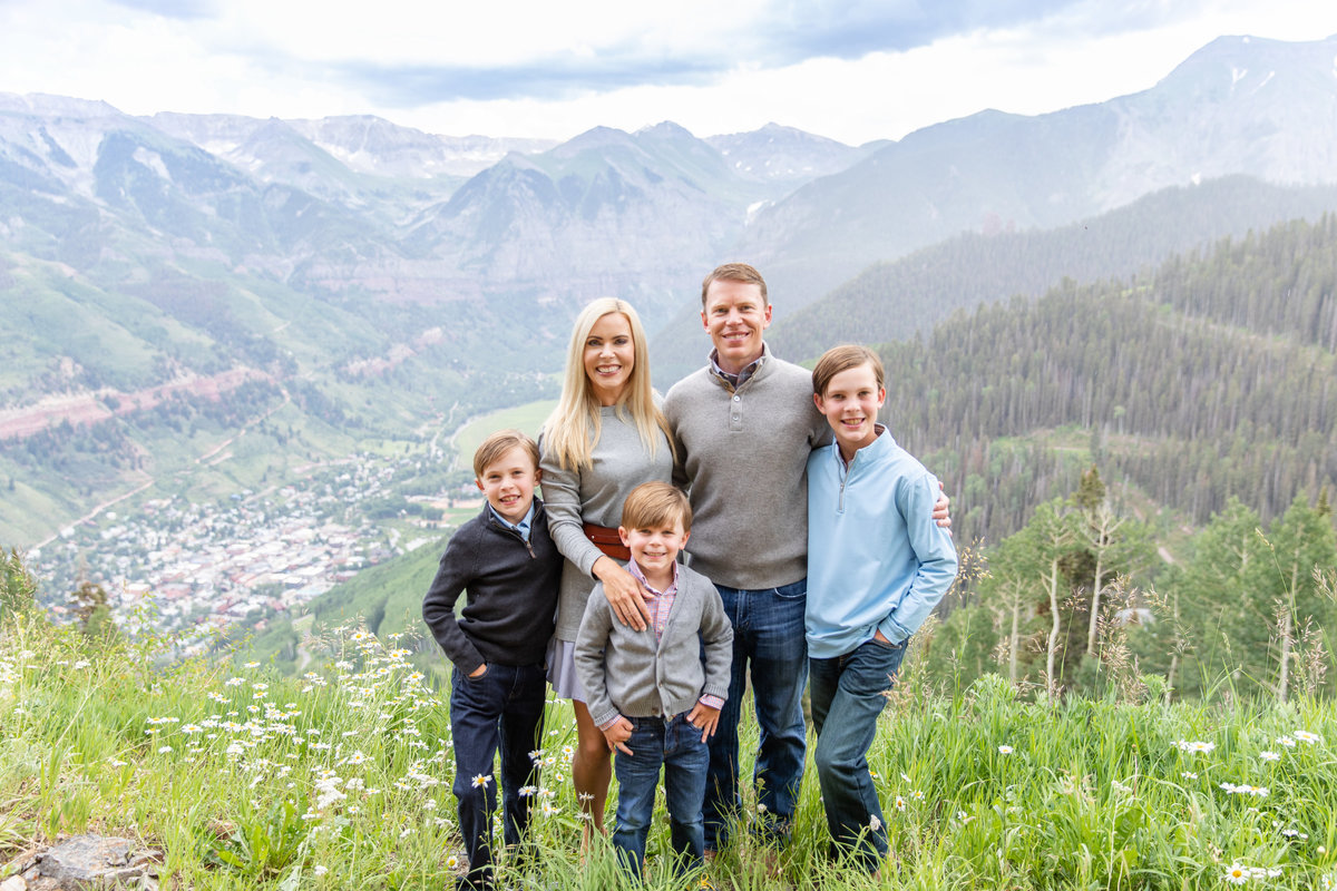 family photo in telluride