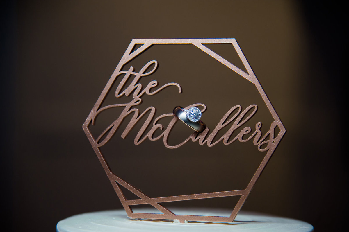 Custom cake topper with rings