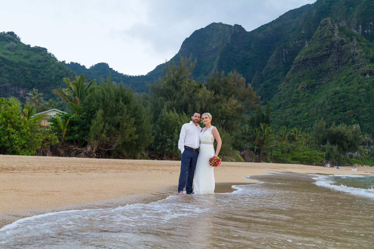 Wedding at Tunnels Beach Kauai.