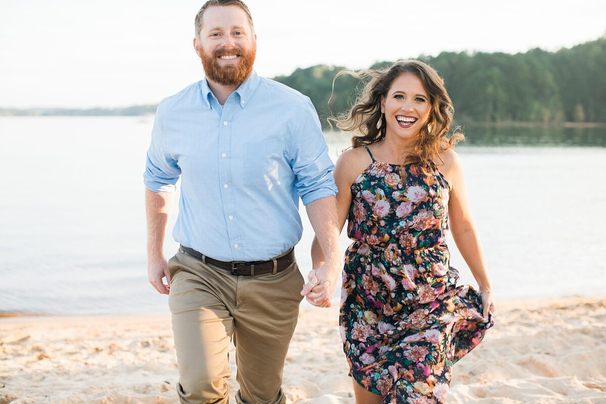 Greenville  Wedding Photographer, outdoor engagement session near water
