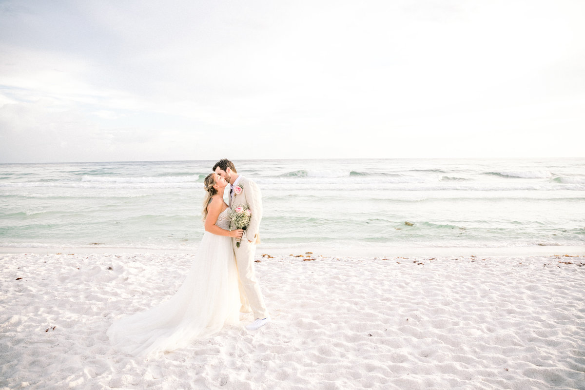 Miramar Beach Wedding Bride and Groom Portraits