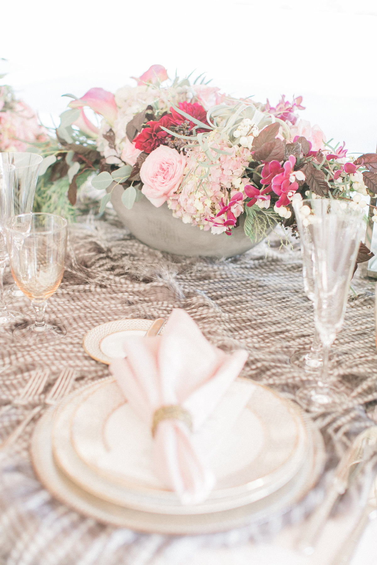 Rustic Chic Textured Table Setting