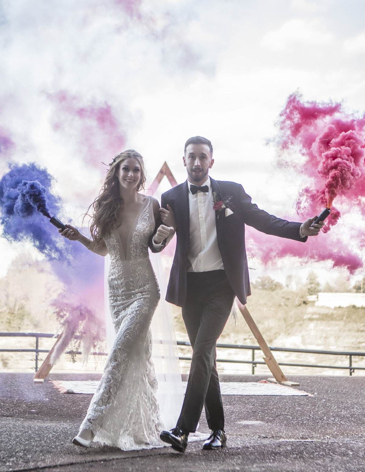 Wedding Smoke Bomb Exit - Verve Event Co (3)