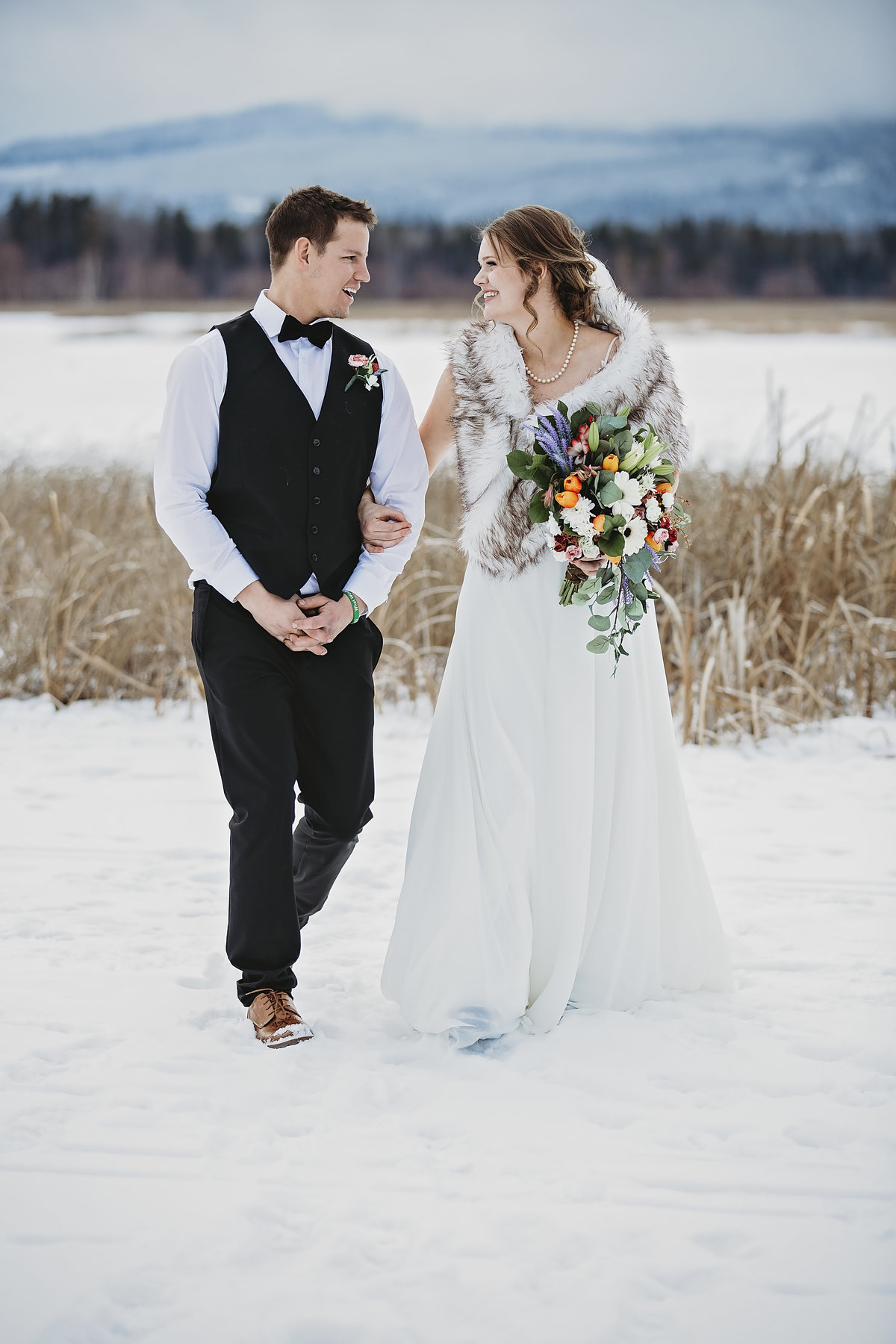 Wedding in Valemount BC Captured by local photographer