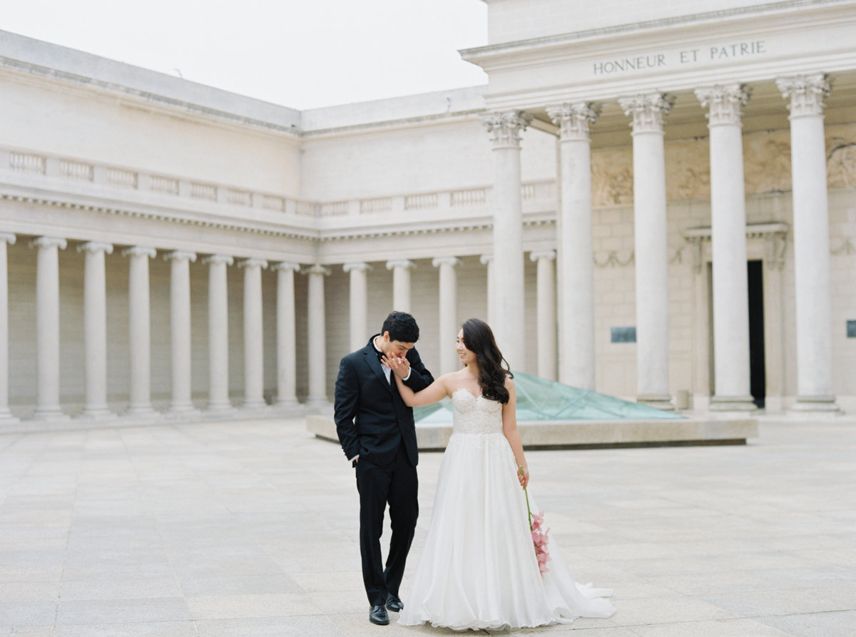 Diana + Pablo San Francisco California Legion of Honor Museum Wedding Session | Cassie Valente Photography 0100