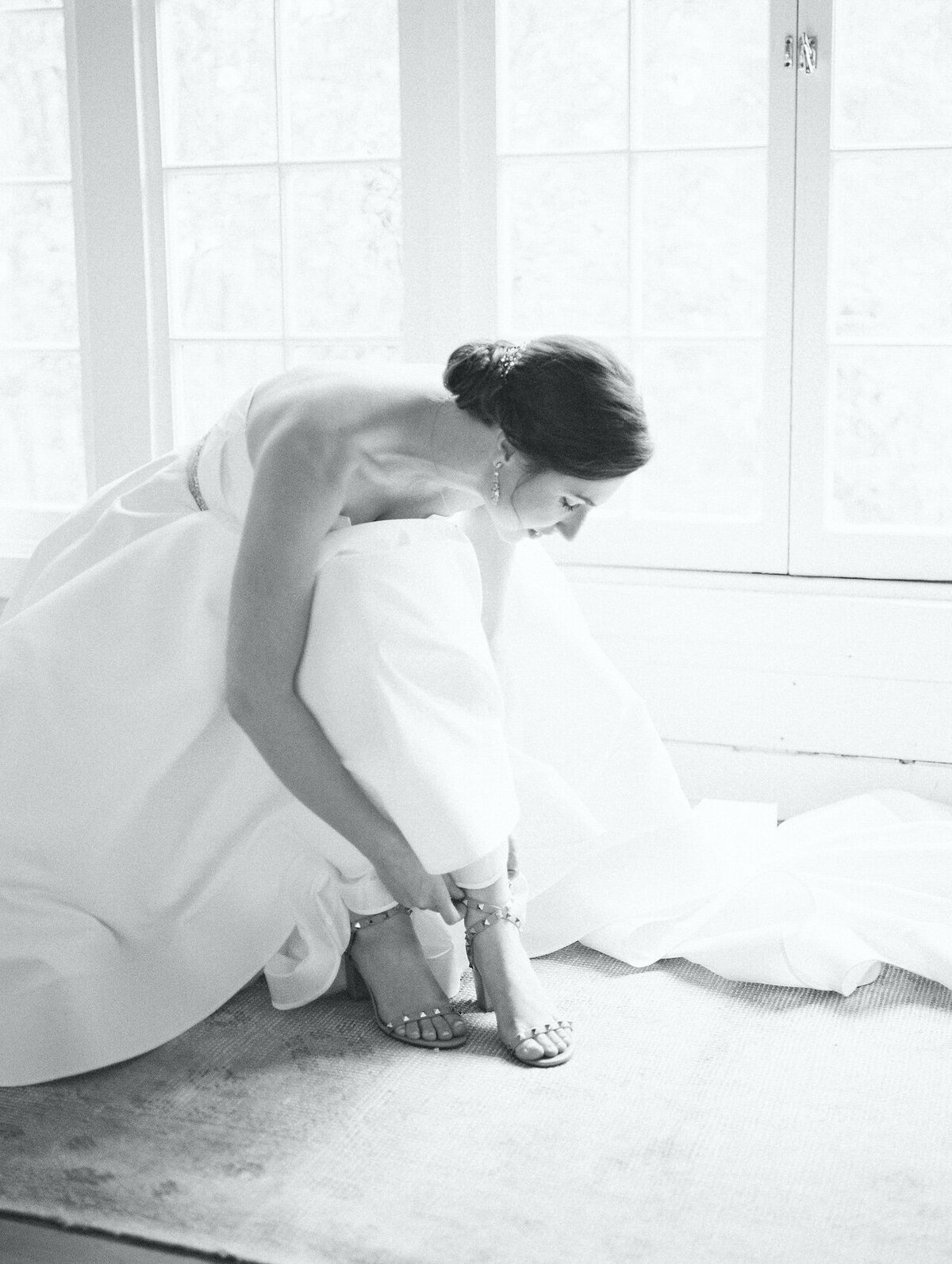 Bride Getting Ready Photos Washington DC Film Photographer Robert Aveau for © Bonnie Sen Photography