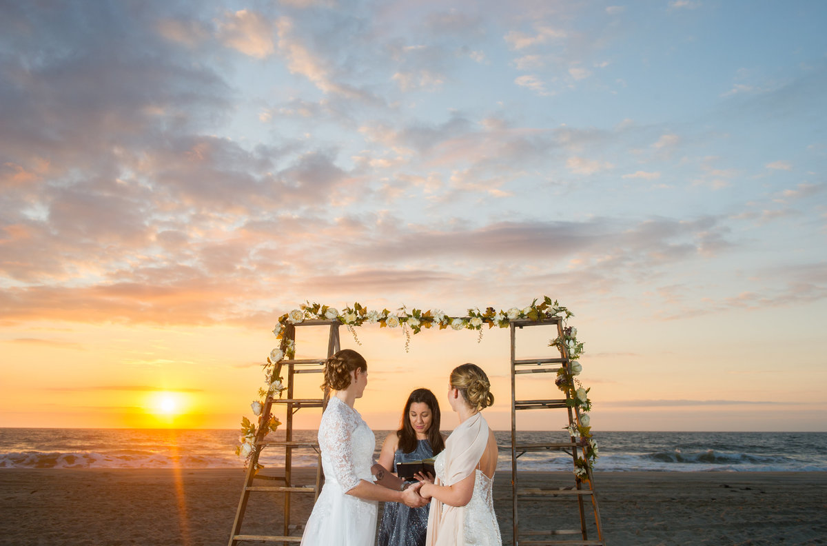 same sex wedding on long beach island