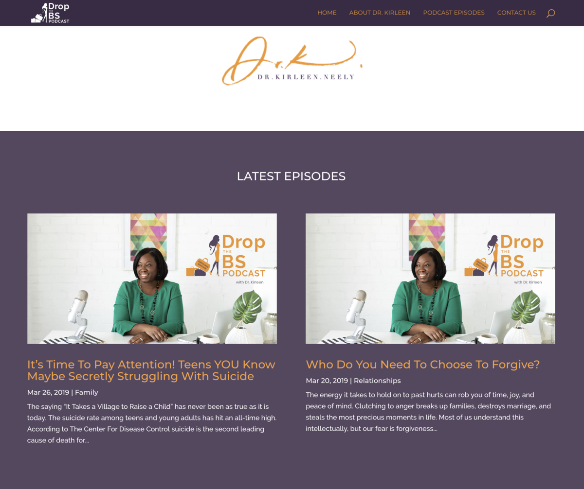therapist-podcaster-kirleen-neely-drop-the-bs-san-antonio-branding