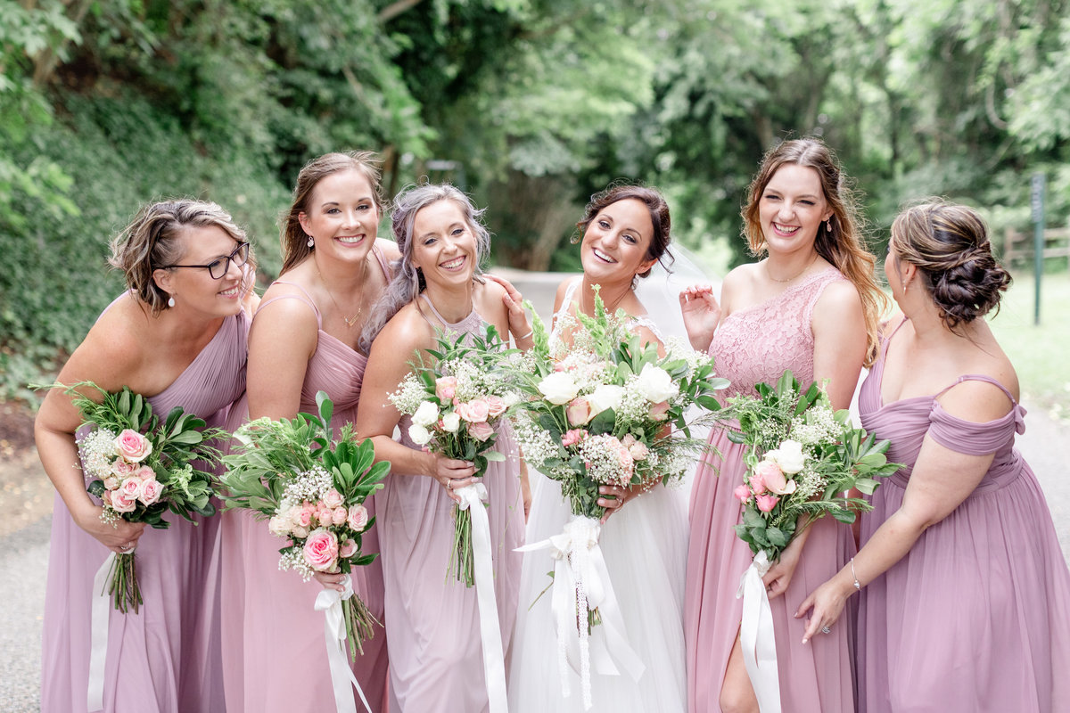 Virginia wedding photographer , bride, bridesmaids, charlottesville wedding photographer