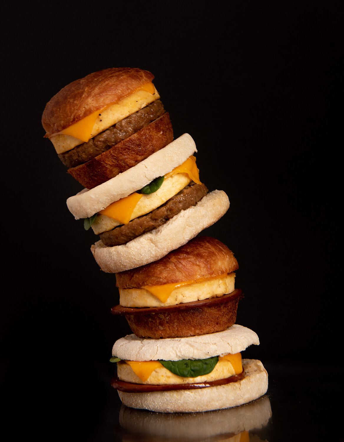 plant power fast food vegan breakfast sandwiches