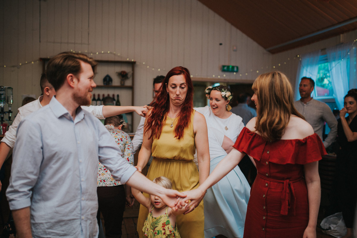 Village Hall Wedding, Maxstoke, Emily & Hannah - Electric Blue -490