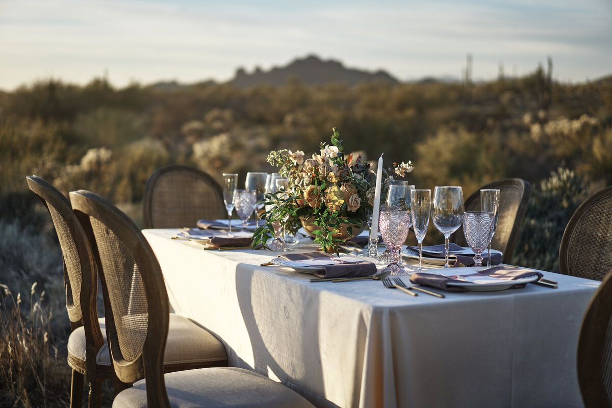 desert table setting