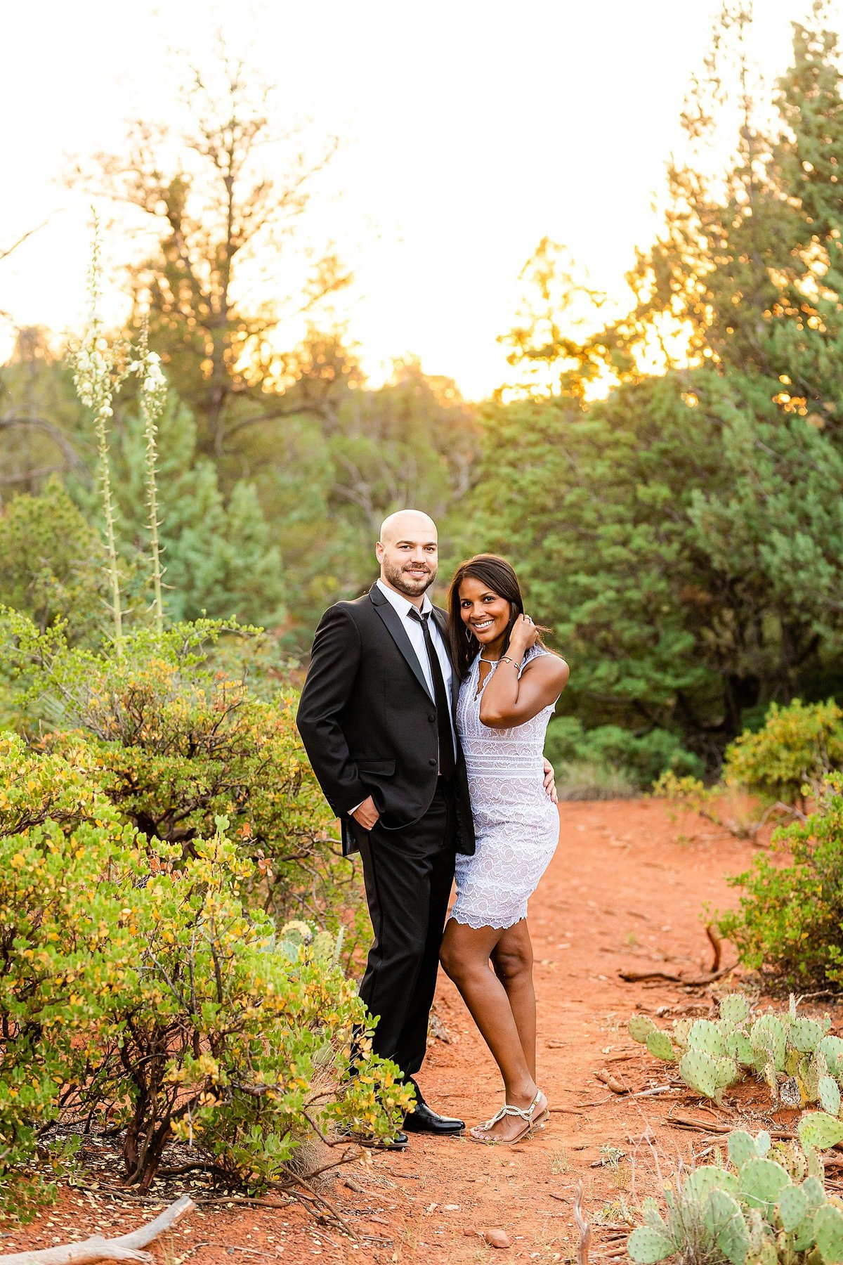 Monica + Austin - Sedona Engagement Session - Cathedral Rock - Lunabear Studios_0201