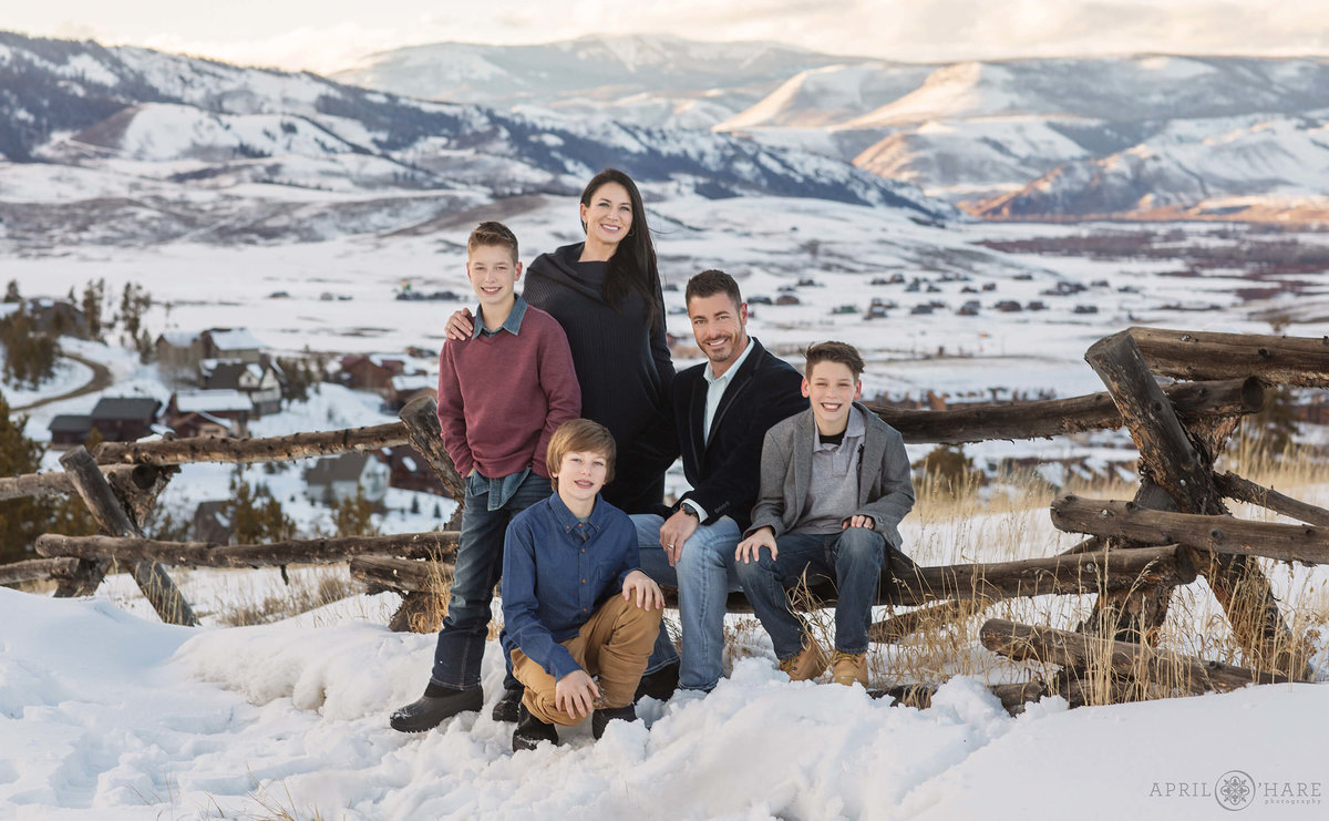 Grand County Colorado Family Photography During Winter