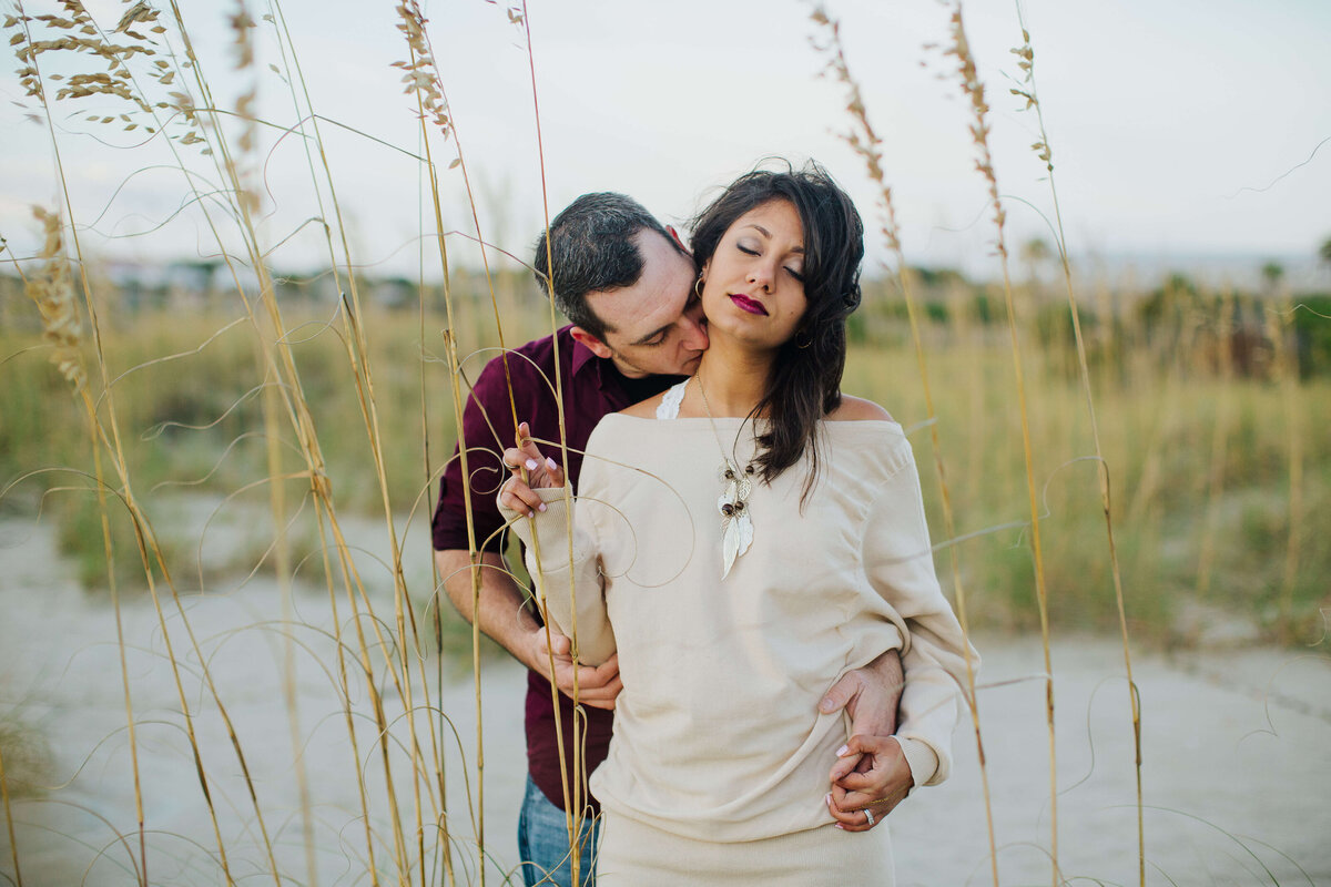 Tybee Island couples portrait session