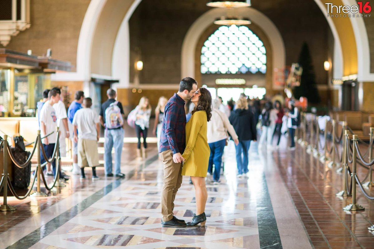 Los Angeles Union Station Engagement Photos LA County Weddings Professional