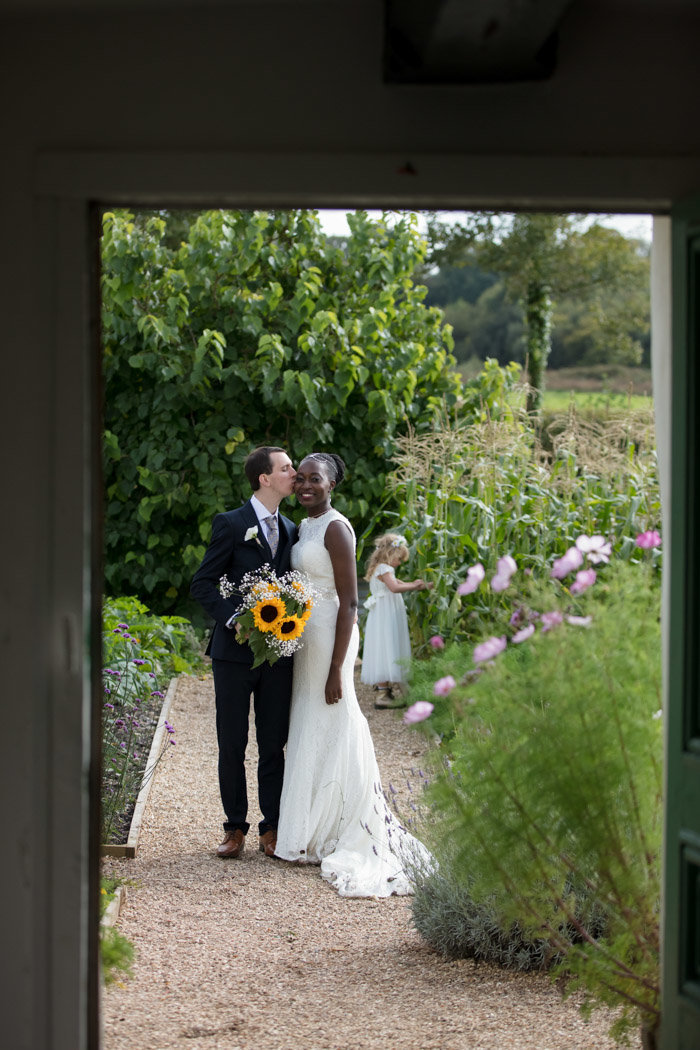 Couple in the gardens of River Cottage Devon