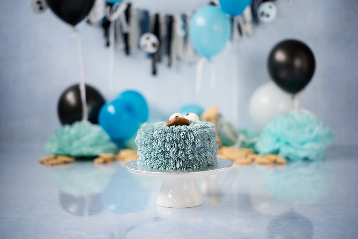 cookie-monster-themed-cake-smash