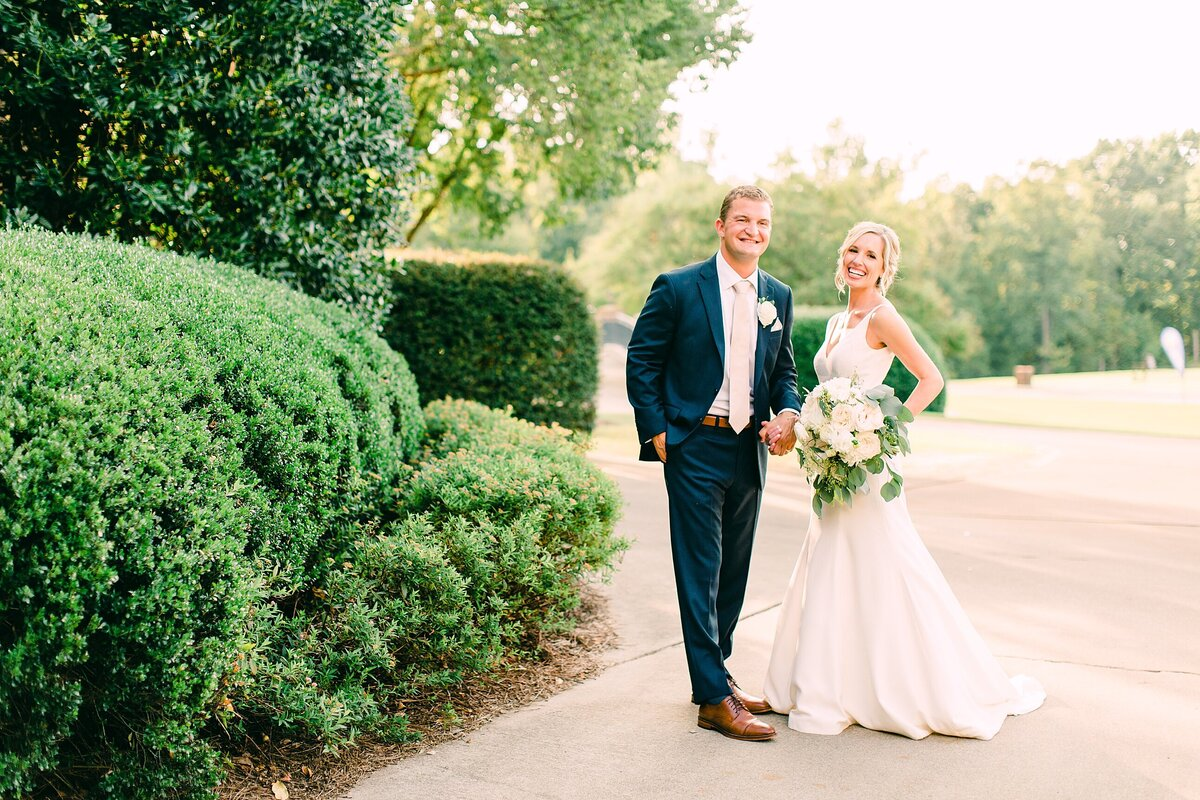 Bride and groom photography at a country club in Charlotte nc