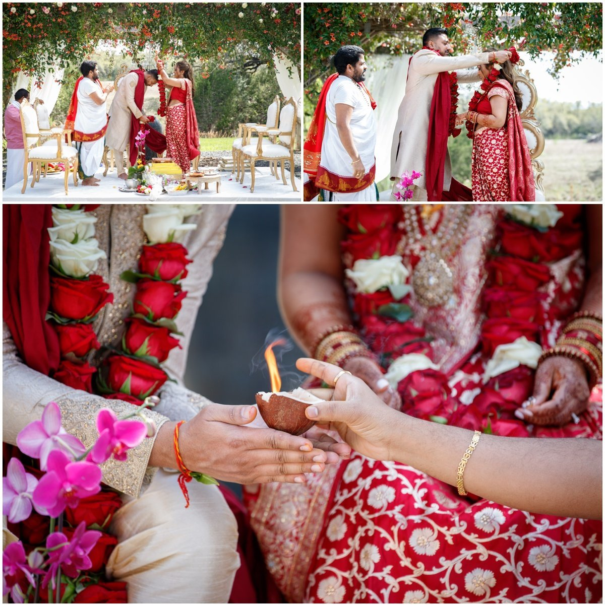 Austin wedding photographer pecan springs ranch wedding photographer Indian ceremony coconut