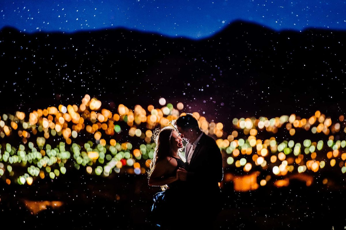 night engagement photo in el paso texas by stephane lemaire photography