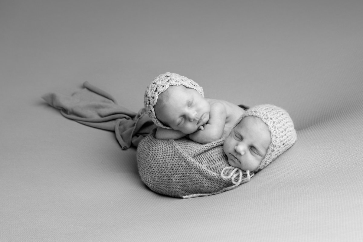 Newborn baby twins professional photography in bend or