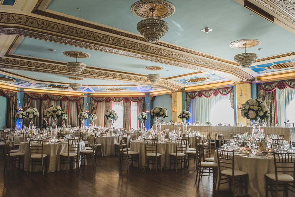 Fairmont Banff Springs Cascade Ballroom Wedding Reception Decor