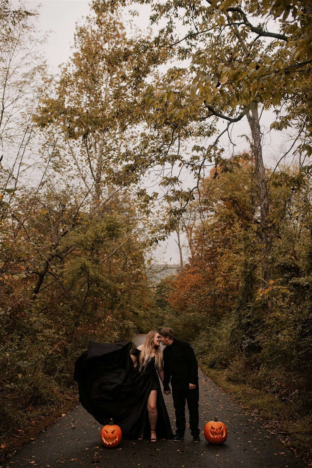 Brizzy-Rose-and-Emma-Rose-Island-Charlestown-Spoopy-Engagement-Session-5