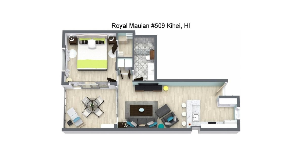 floor plan for Maui Beachside 1
