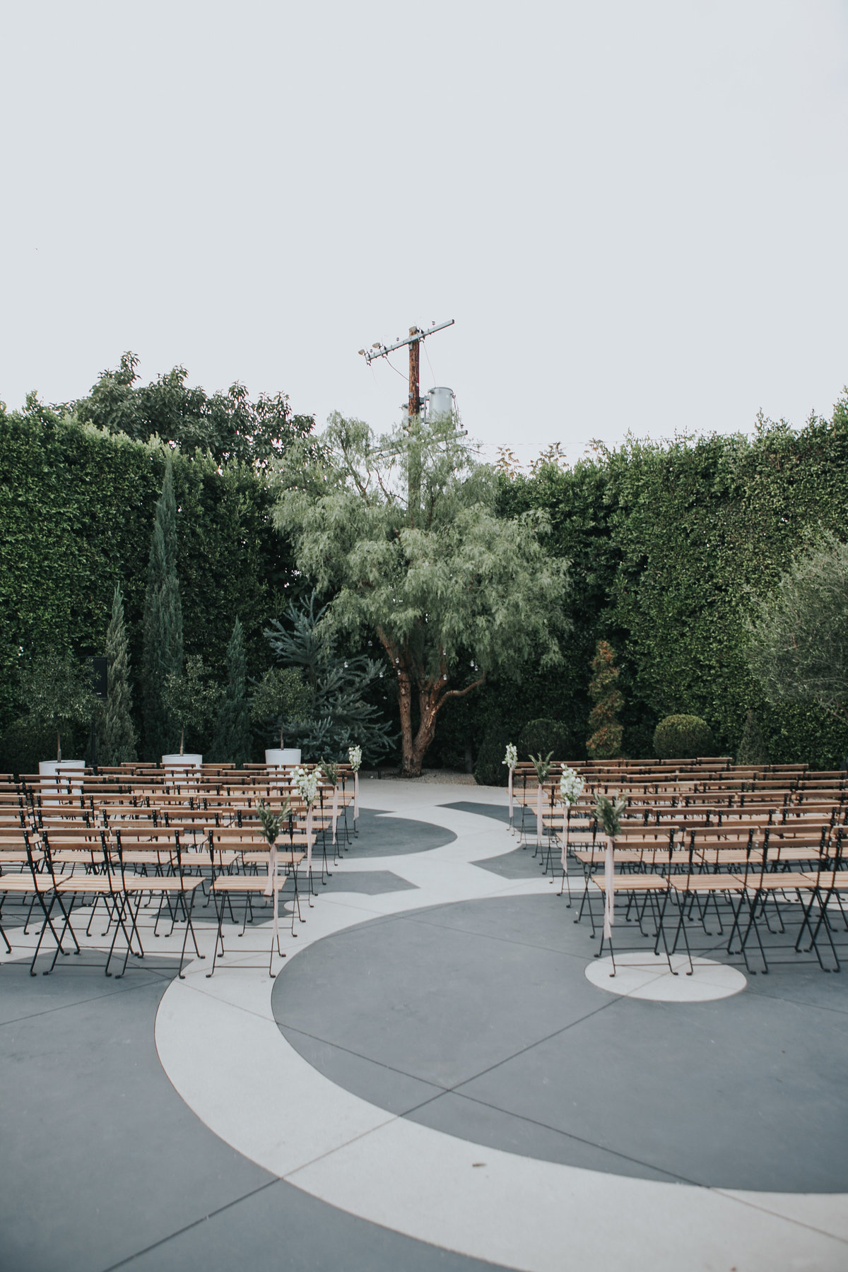 Wedding ceremony at The Fig House