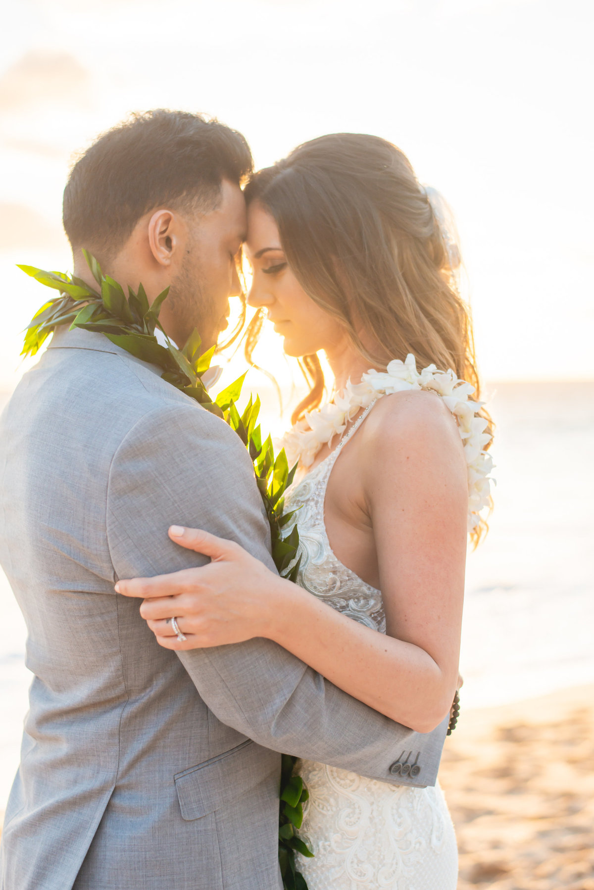 Maui wedding photography - hug