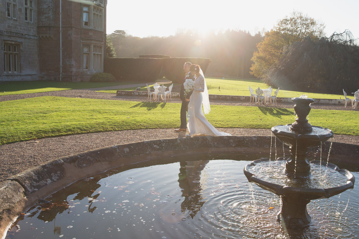 beautiful wedding photo at st audries park somerset