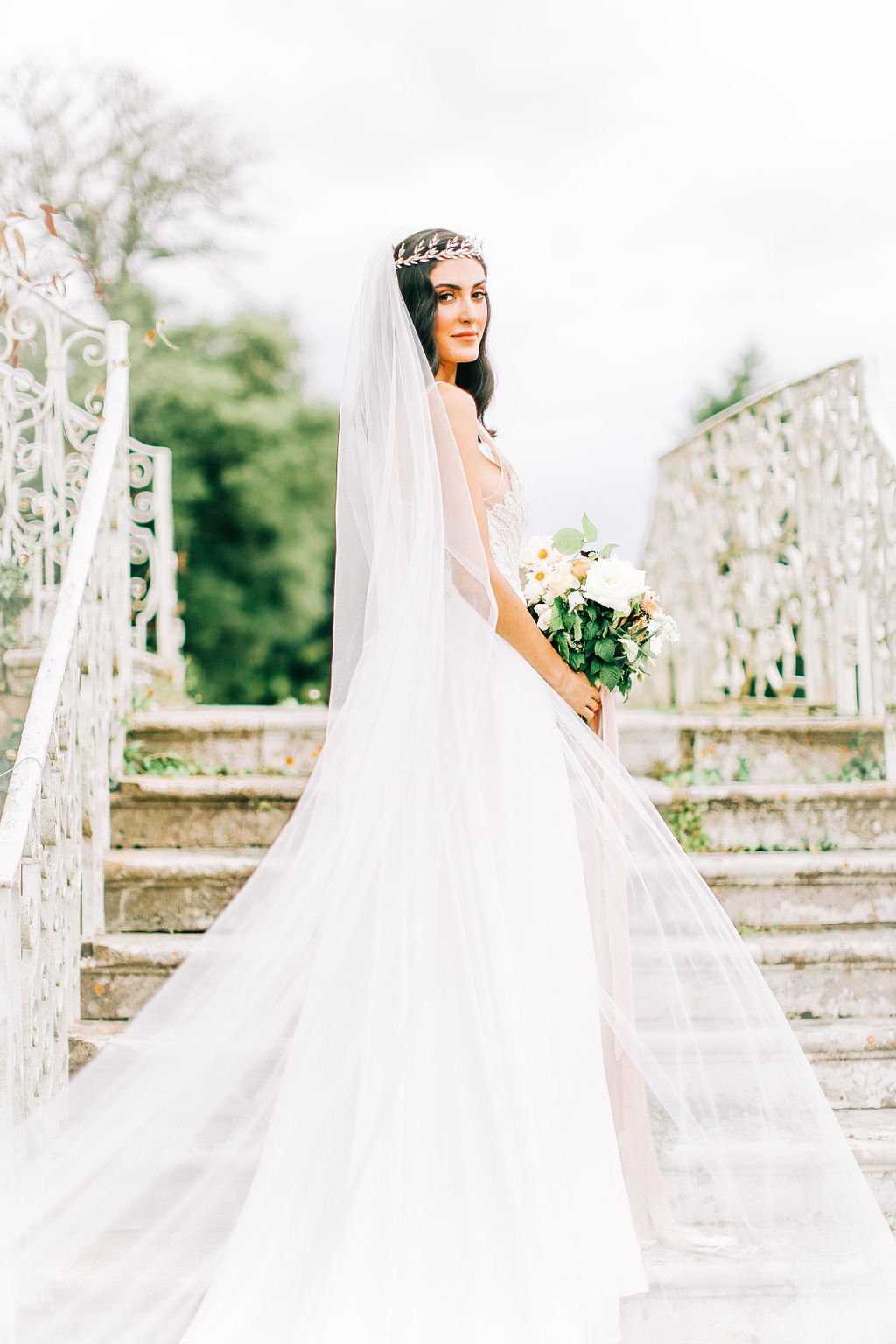 Ballgown Wedding Dress at Stately Home Wedding Venue Hampshire