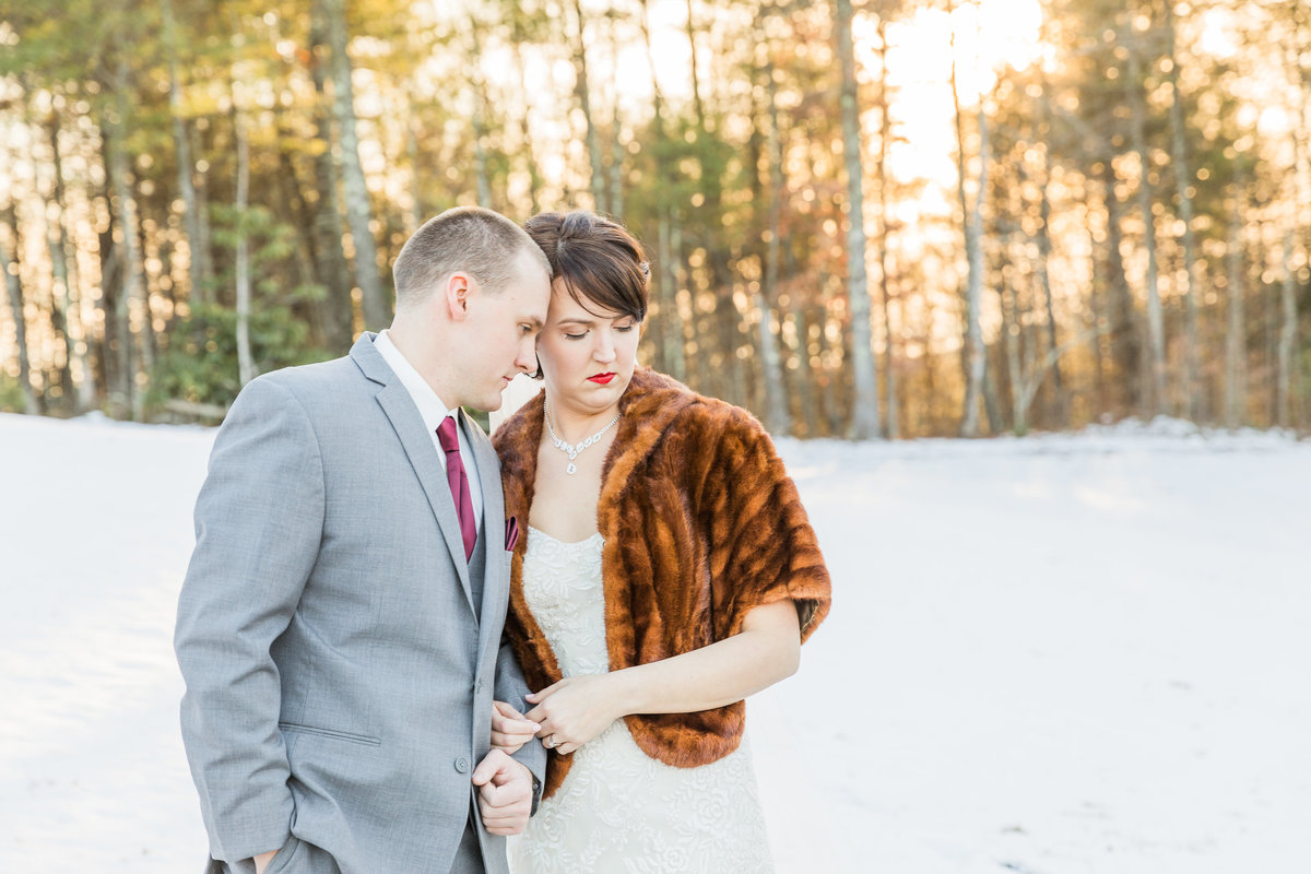 Galax Virginia Winter Wedding