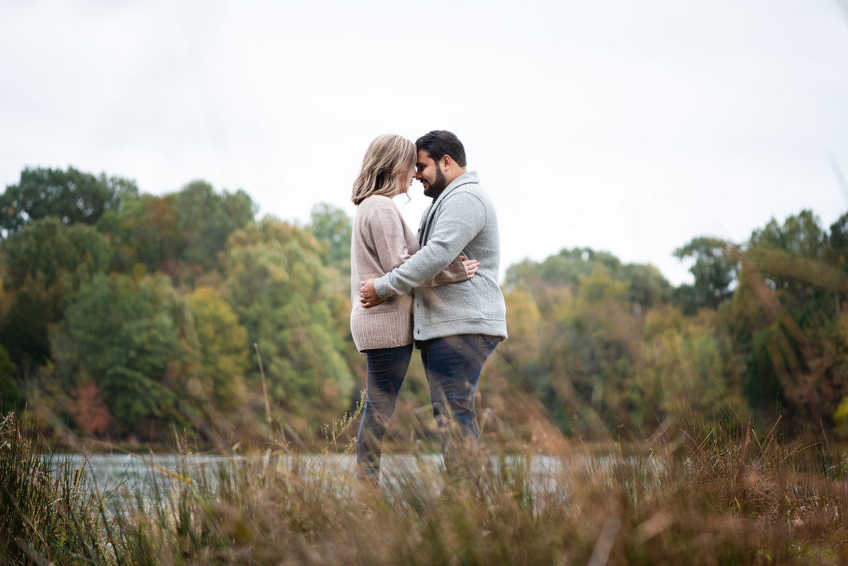 shelby farms fall engagement photo
