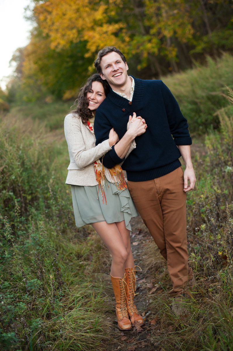 newley engaged couple in upstate NY