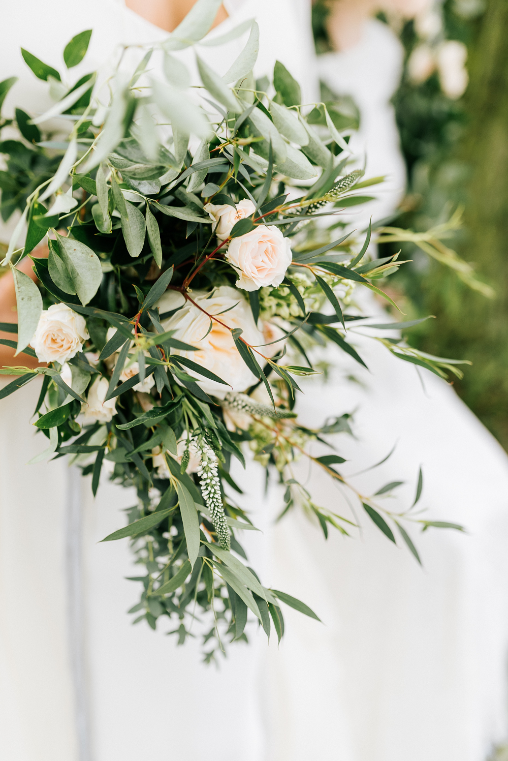 Lush Greenery Wedding Inspired Styled Shoot at Cornman Farms Bridal Bouquet by Fleurology