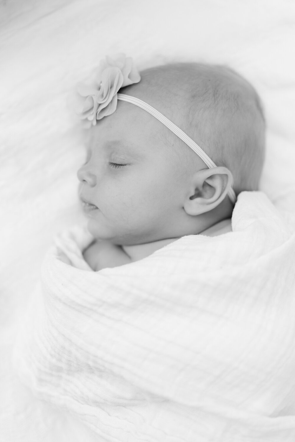 black and white newborn baby girl