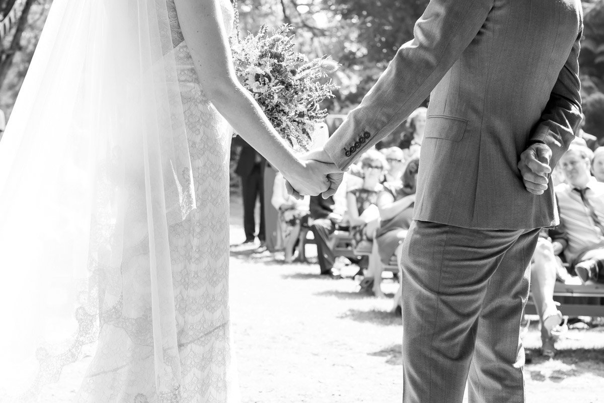 Humanist wedding ceremony at Huntsham Court Devon