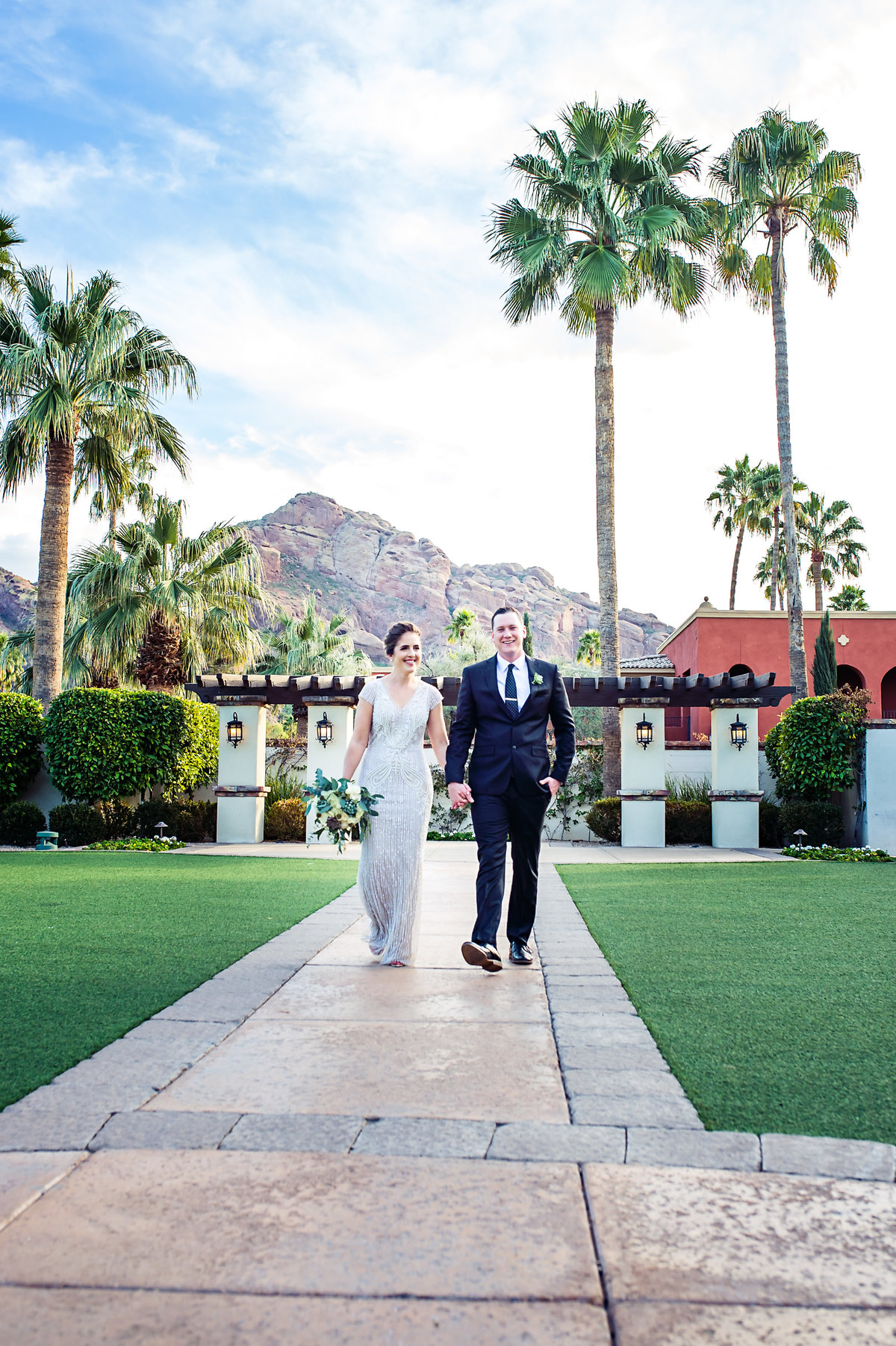Small wedding at the Omni Scottsdale Resort in Paradise Valley, Arizona