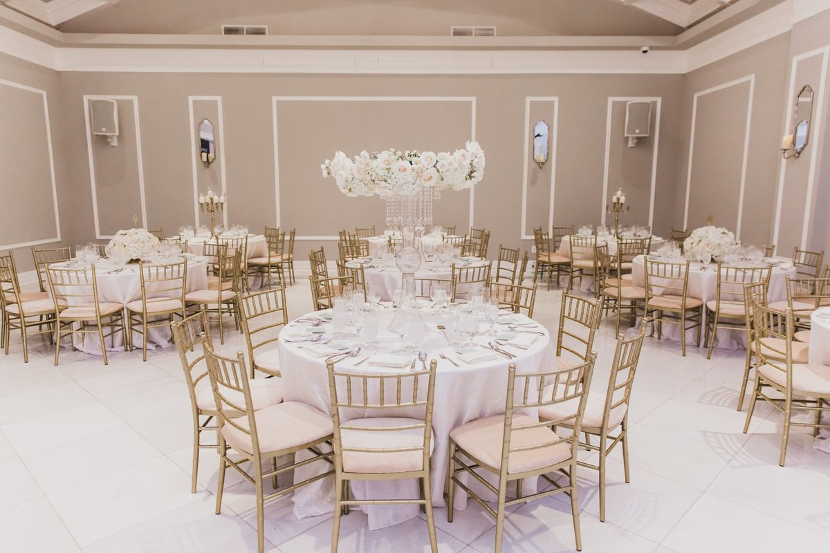 Glamorous reception planned by Columbus Wedding Planner