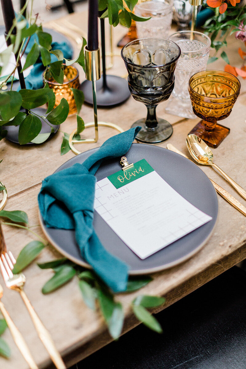 pirouettepaper.com | Wedding Stationery, Signage and Invitations | Pirouette Paper Company | Modern St. Patrick's Day Wedding | Ragi & Amanda Photography _ (1)