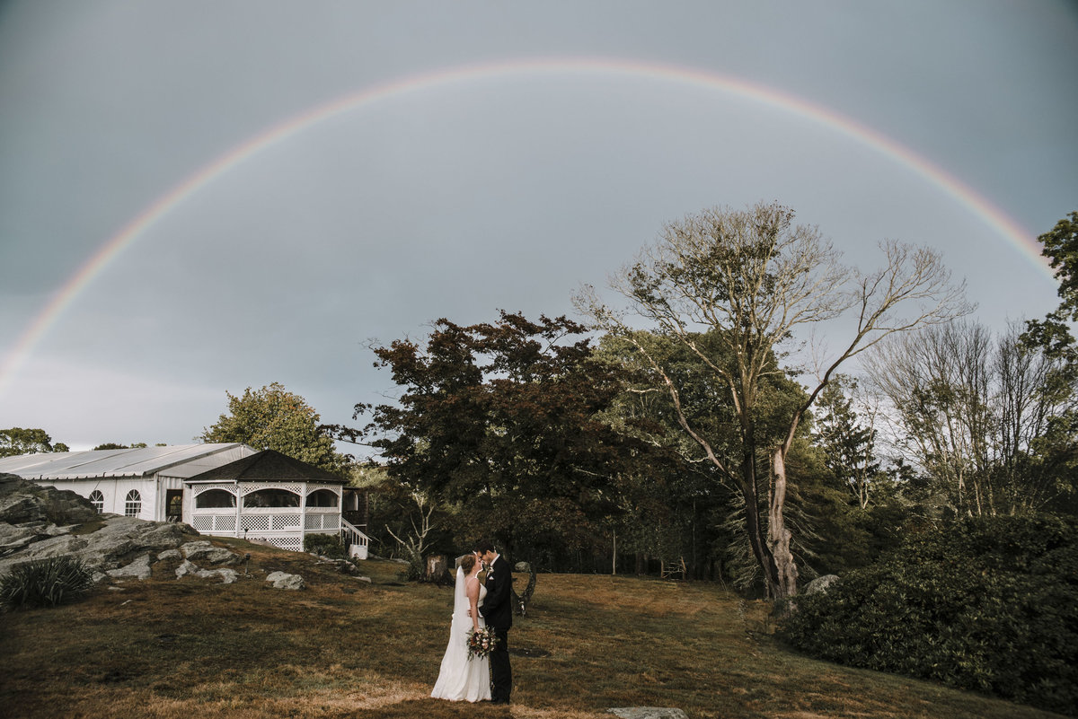 Couple under a rainbow Mystic, Connecticut
