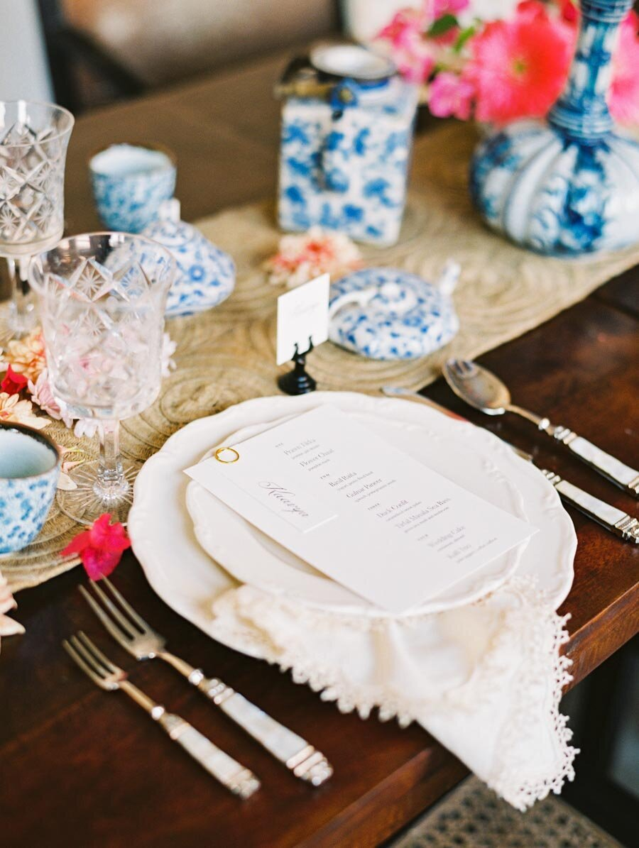 Blue and White Wedding Inspiration Bonnie Sen Photography