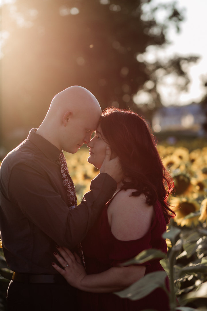 Engagement session in the sunflower field0018