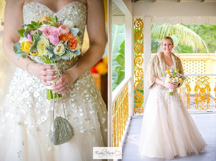 Southern bride bonnet house spring wedding