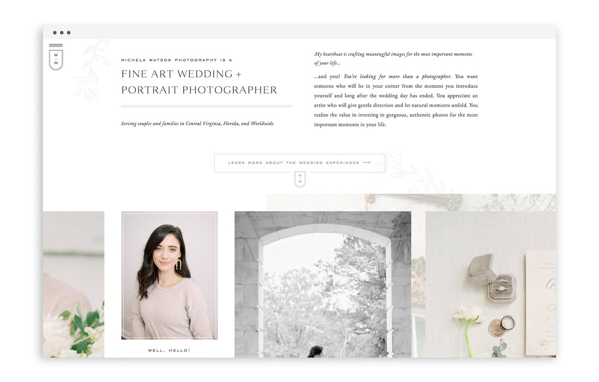 Michela Watson Photography - Custom Brand and Web Design for Fine Art Photographer - With Grace and Gold - Best Showit Website Designer - 16