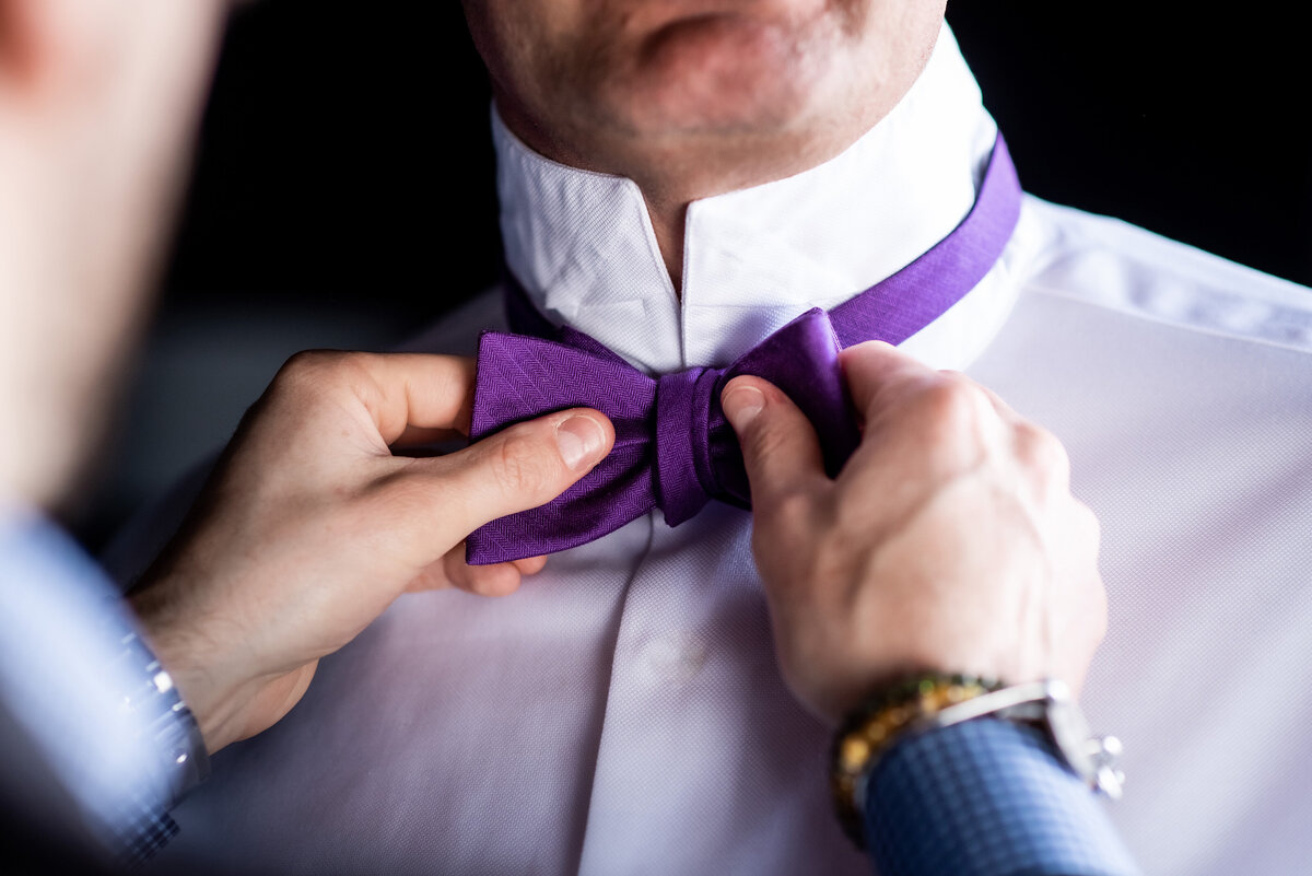 gps-rachel-alvie-wedding-getting-ready-purple-bow-tie-detail