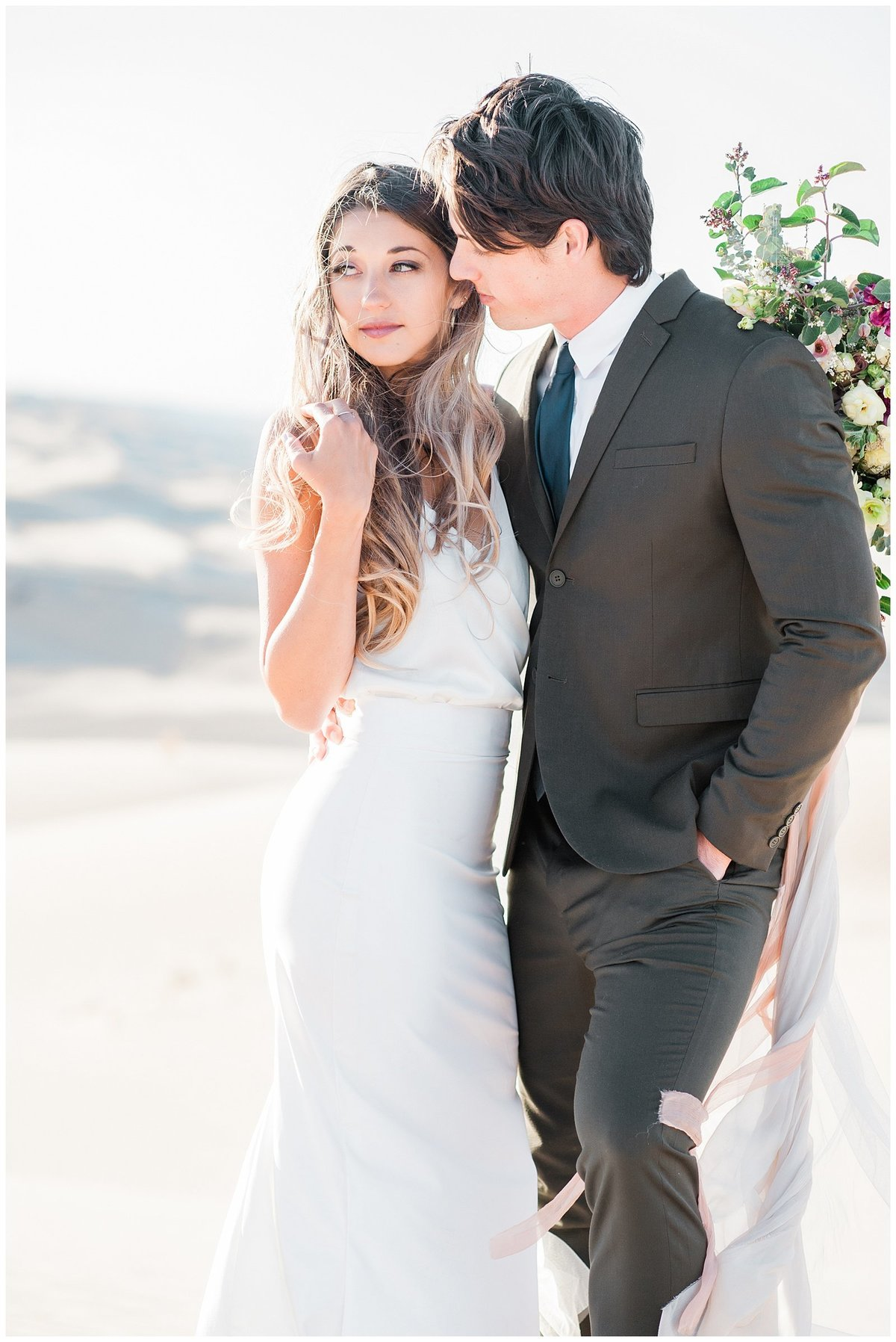 Glamis Desert Bohemian Wedding Styled elopement southern california sand dunes photo017